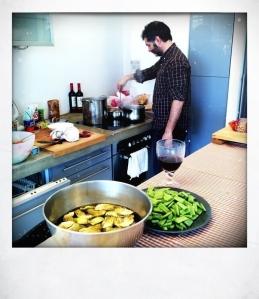 Jorge cocinando